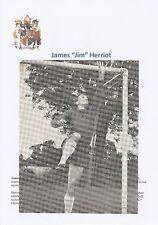JIM HERRIOT BIRMINGHAM CITY 1965-1970 ORIGINAL HAND SIGNED MAGAZINE CUTTING