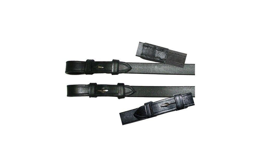 Riendas de cuero con antideslizante tirada negro  nuevo  cómodo
