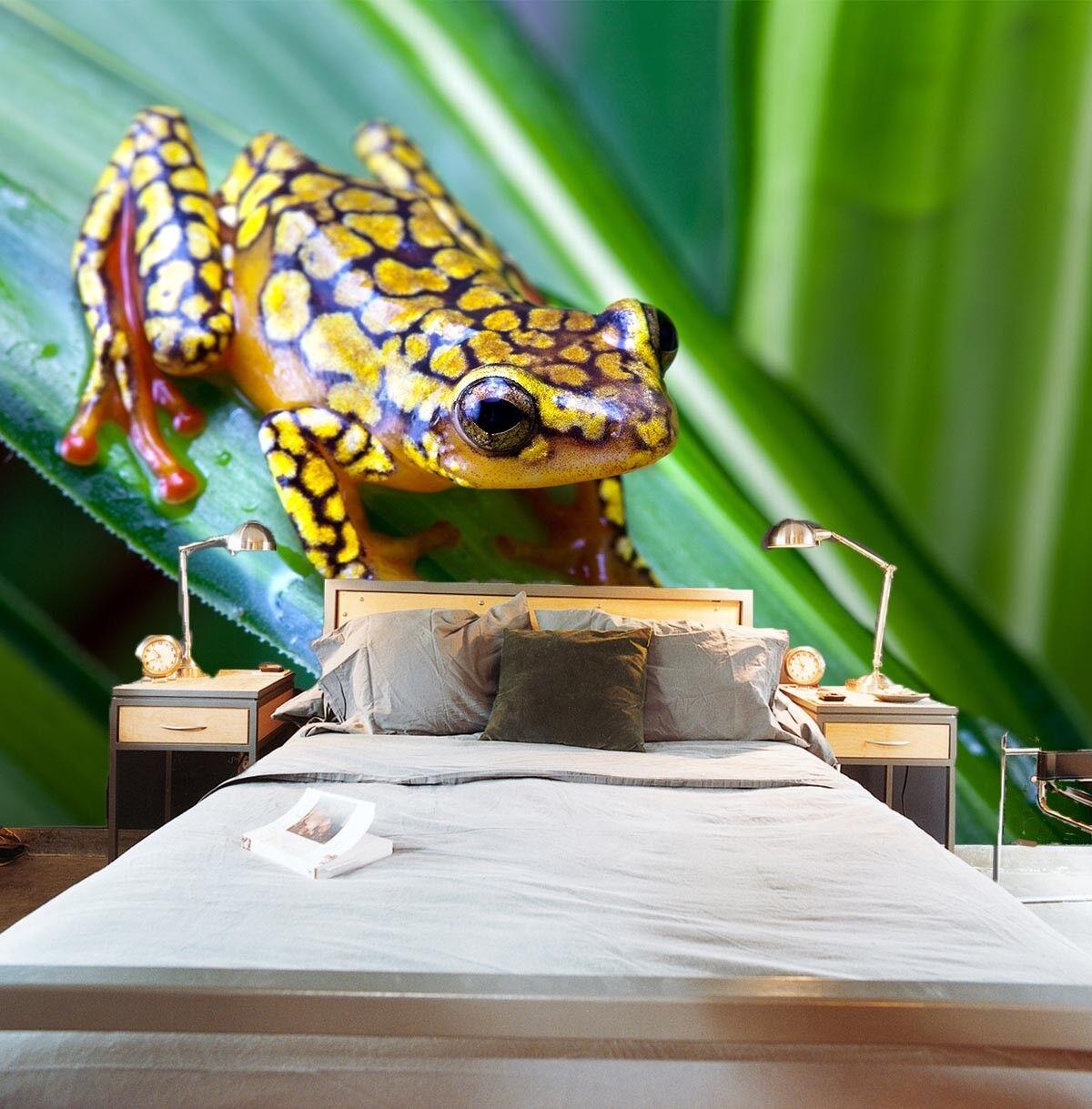 3D Golden Frog Plant 8 Wall Paper Murals Wall Print Wall Wallpaper Mural AU Kyra