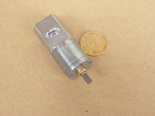 DC 3V~6V 33RPM Slow Speed Mini 20mm Full Metal Gearbox Gear Motor DIY Car Robot