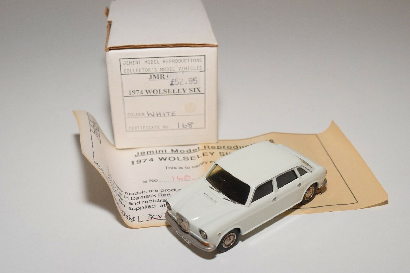 JEMINI CROSSWAY 1974 WOLSELEY SIX 6 blanco MINT BOXED RARE   168 600