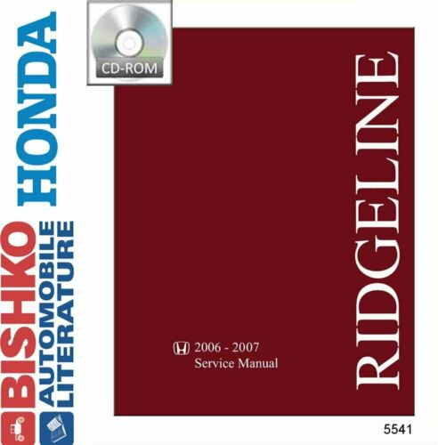 OEM Shop Manual CD Honda Ridgeline w// 06-08 Etm Manual 2006-2007