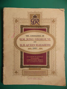 CORONATION OF GEORGE & ELIZABETH 1937 CIGARETTE CARD ALBUM. JOHN PLAYER. VGC