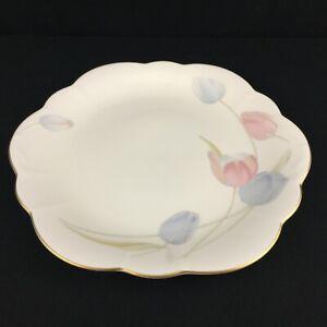 VTG-Wellington-Cake-Plate-by-Mikasa-Swiss-Garden-Bone-China-Floral-CR009-Japan