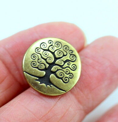 TierraCast Tree of Life Buttons 4 Pieces 6218 Antiqued Copper Plated