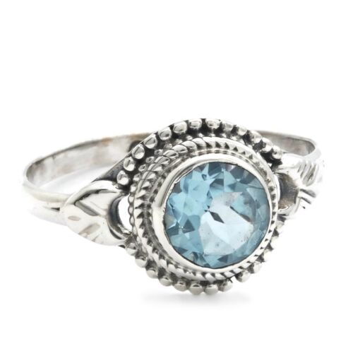 Blau Topas Ring 925 Silber Sterlingsilber Damenring blau MRI 153-62