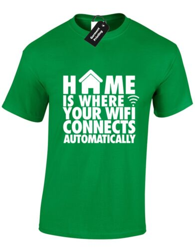 HOME IS WHERE WIFI MENS T SHIRT FUNNY GAMER NEW QUALITY DESIGN GAMING XBOX PS4