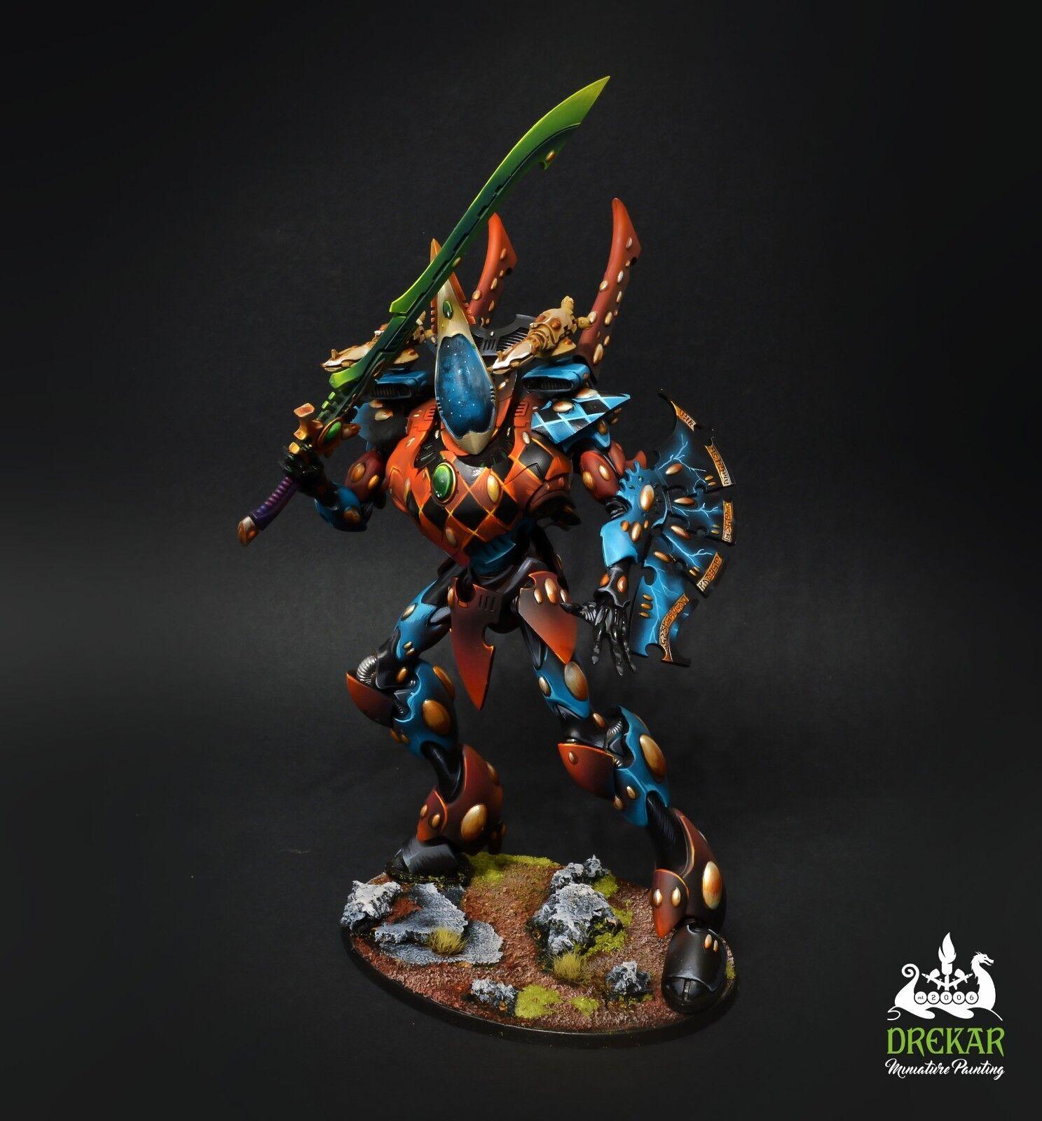 Wraithknight Eldar craftworlds warhammer 40K  COMMISSION  painting
