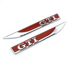 2 x Volkswagen VW Golf GTI Red Wing Badges Edition 30 ED30 Edition 35 ED35 *UK*