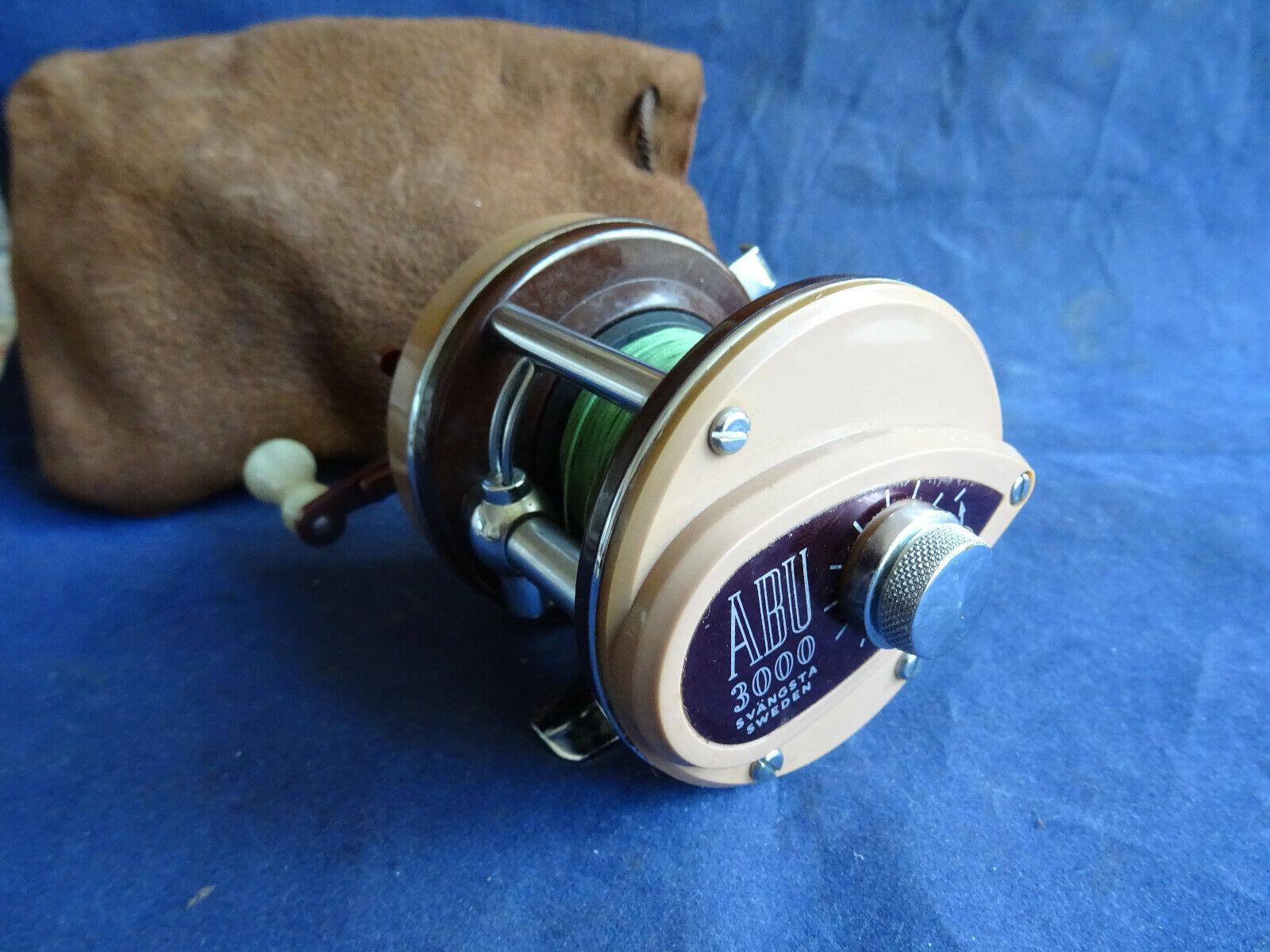 Un ottimo limate usati vintage ABU Ambassadeur 3000 Moltiplicatore & Custodia