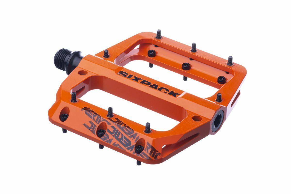 Sixpack Grünic 3.0 Alu Flat Fahrrad Pedal Orange