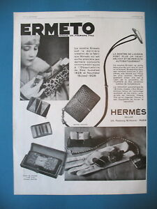 Advertising-Press-Ermeto-Watch-Creation-Movado-at-Hermes-French-ad-1929