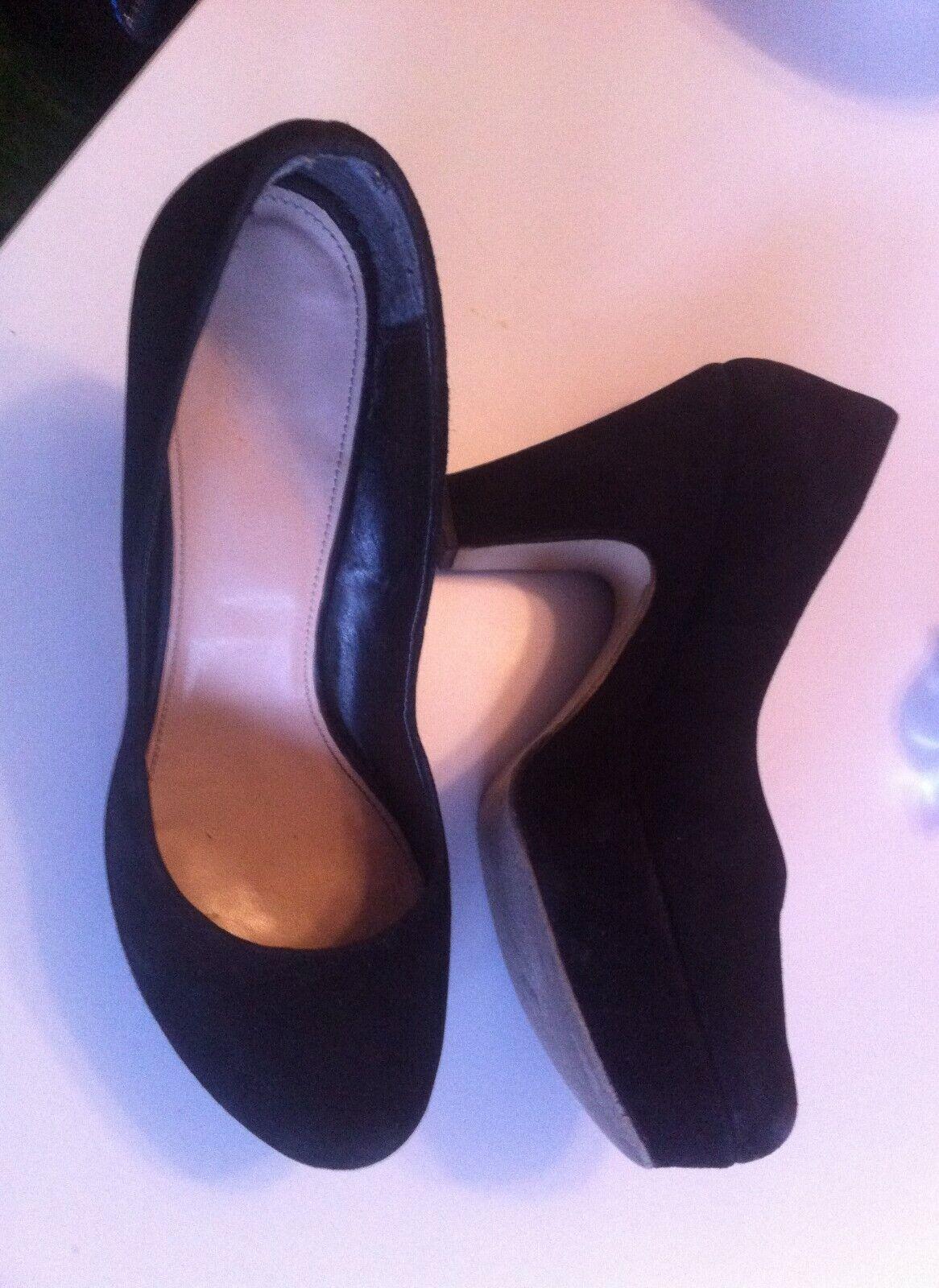 Kurt Geiger Pumps Plateau velour Leder schwarz 40 chunky klassiche klassiche klassiche high heels d80cf5