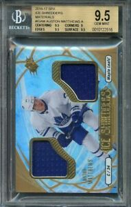 2016-17-spx-ice-shredders-materials-isam-AUSTON-MATTHEWS-leafs-rookie-BGS-9-5