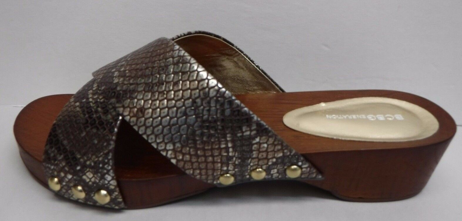 BCBG BCBGeneration Größe 9.5 Slide Sandales NEU Damenschuhe Schuhes