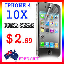 10x LCD HQ Ultra Clear Screen Film Display Protector Apple Guard iphone4G 4S 4