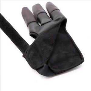 leather 1 finger bow arrow archery hunting shoot glove thumb finger protector M/&