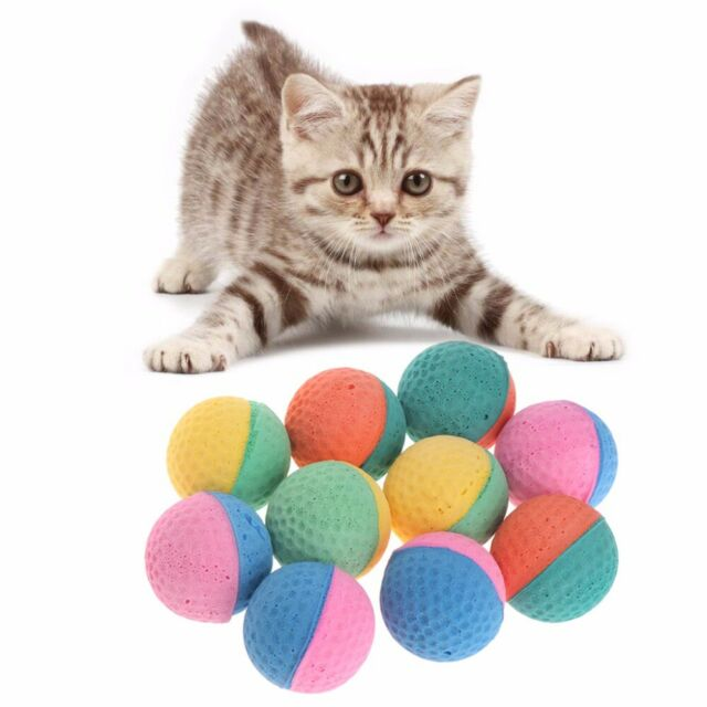 10 Pcs Latex Balls Colorful Chew Toy Puppy Kitten Soft Elastic Pet Supplies Safe
