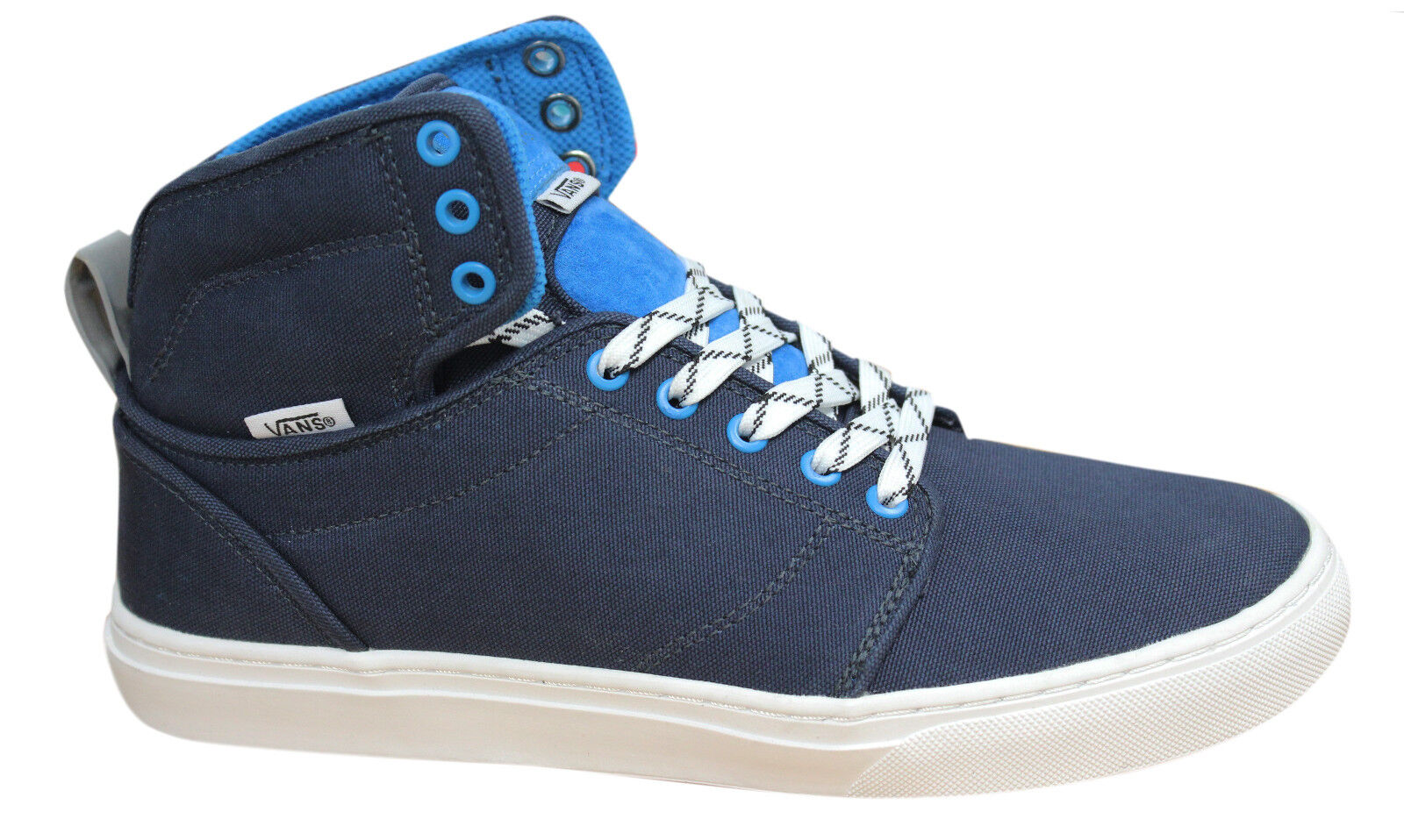 Vans Off The Wall Top Alomar Reflective Mens Mid Top Wall Trainers Navy Blue KX08RG VF 36014e
