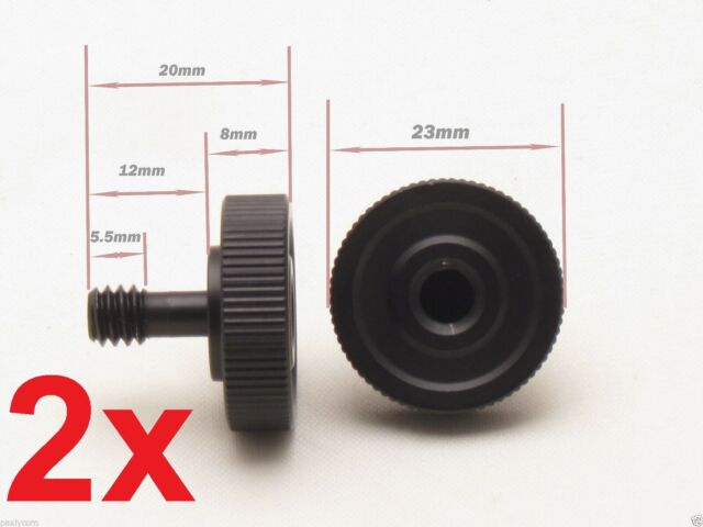 "2x 1/4"" Male to Female Screw Adapter Hot Cold Shoe Tripod Camera Flash Bracket"