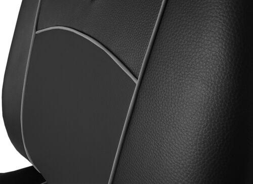 Renault Trafic 2+1 2014 cubiertas de asiento de cuero Eco presentes hecha a medida para Van