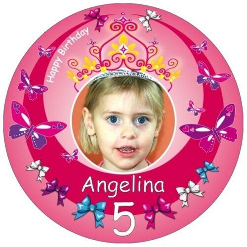 Princesse à secteurs aufleger Avec Photo Pour Anniversaire Gâteau-Surprise Fille