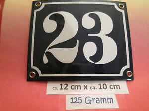 Emaille Hausnummer Nr 35 weisse Zahl auf blauem Hintergrund 12 cm x 12 cm