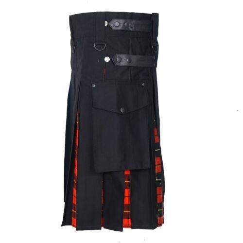 Coton /& Écossais Utilitaire Kilt Wallace Homme Hybride Cuir Bretelles