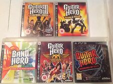 Guitar Hero PS3 Bundle III 3 Legends Rock World Tour Aerosmith Warriors Of Band