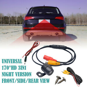 Car-Vehicle-Rear-View-Side-Front-Camera-Reverse-Backup-Parking-Mini-170-CCD-HD