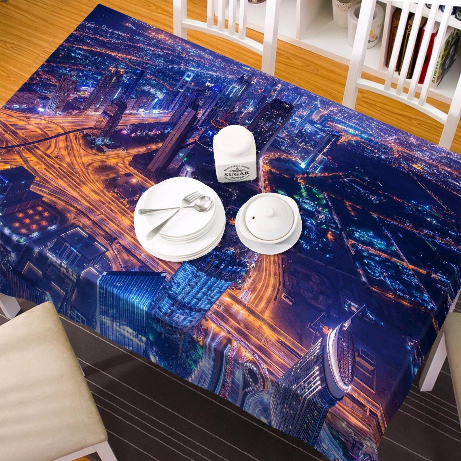 3D Light Sky 6 Nappe Table Cover Cloth fête d'anniversaire AJ papier peint Royaume-Uni Citron