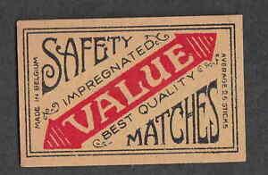 Ancienne étiquette Allumette Belgique Bn2230 Value Lpr22bcc-07223700-467654146