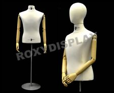 Mens Hard Foam Torso Shirt Form With Flexible Arms And Removable Egg Head