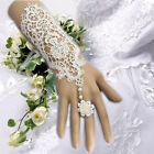 Women's Wedding Dress Jewelry White Rose Lace Pearl Bracelet Ring Accessories 1X