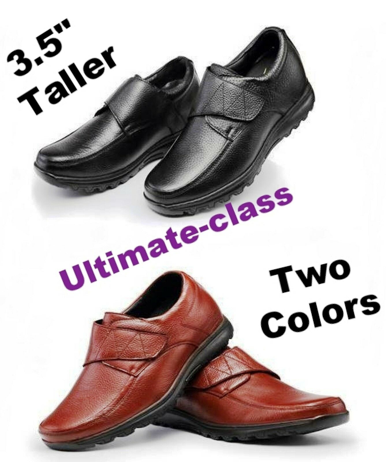 """Super 3.5"""" Uomo Elevator Height increasing Casual Dress shoes size 8 8.5 9 9.5"""