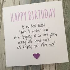 Item 3 FUNNY BEST FRIEND BIRTHDAY CARD BESTIE HUMOUR FUN SARCASM