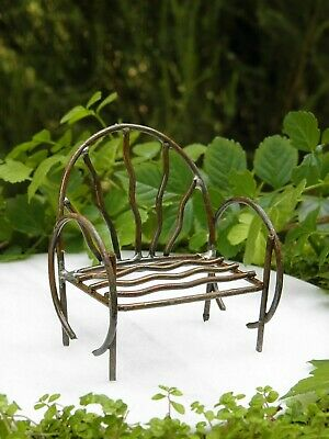 Miniature Dollhouse FAIRY GARDEN Accessories ~ Resin Wood Look Daydreamers Chair