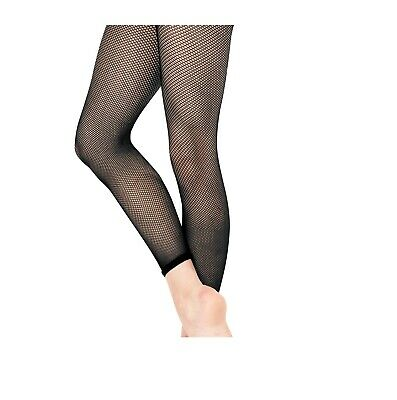 Fishnet Tights Footless Elasticated Hem For Fashion and Dance Girls Women Size