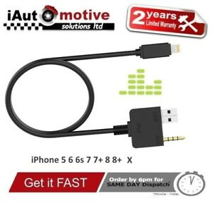 Details about Hyundai Kia iPod Audio Cable Aux USB Interface Adapter Lead  iPhone 5 6 7 8 X SE