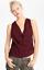 Haute-Hippie-Red-Sequin-Cowl-Neck-Silk-Top-Tank-Blouse-Size-S miniature 1