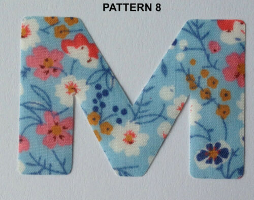 "Multi Listing Size 1.5/"" *NEW* 14 Designs! IRON ON DITZY Fabric LETTERS"