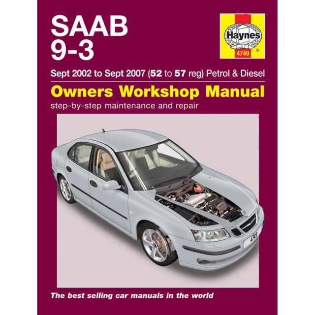haynes workshop repair manual for saab 9 3 petrol diesel 2002 rh ebay com Saab 9-3 Viggen Saab 9-3 2.0T Sport Sedan