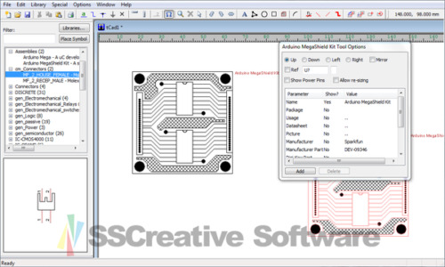 CAD PCB Electronic Printed Circuit Board Schematic Block Drawing ...
