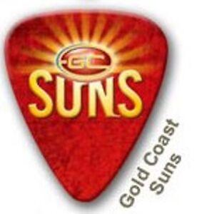 Gold-Coast-Suns-Guitar-Picks-5-Pack-Official-AFL-Product