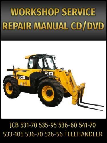 JCB 531-70 535-95 536-60 541-70 533-105 536-70 526-56 Handler Service Manual CD