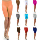 Womens Stretch Biker Shorts Workout Spandex Yoga Leggings Knee Length