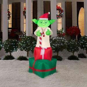 6 Yoda Christmas Airblown Inflatable Yard Decor Star Wars Gemmy Darth Vader Ebay