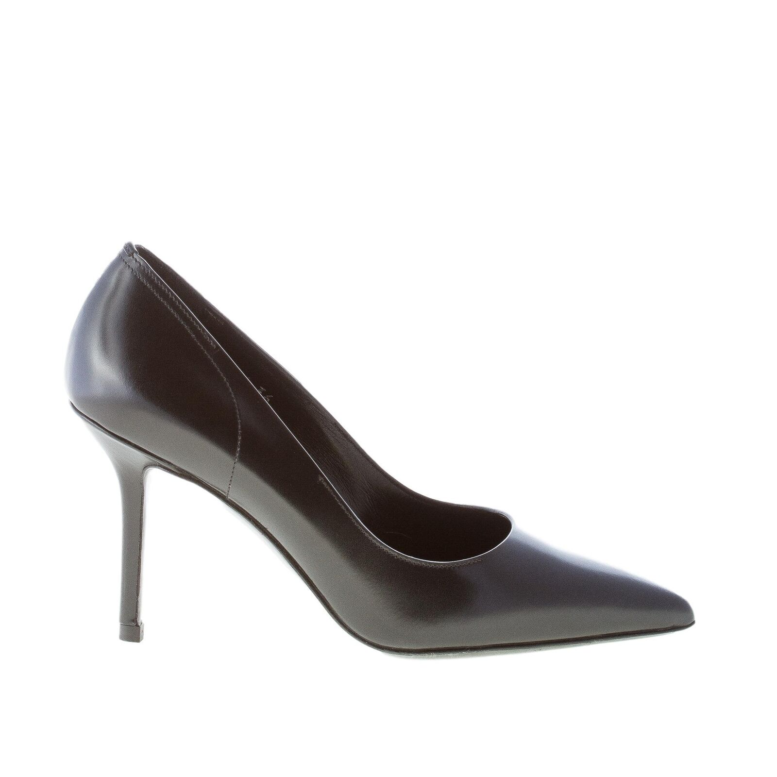 PREMIATA women shoes Black leather pointy toe pump M4196