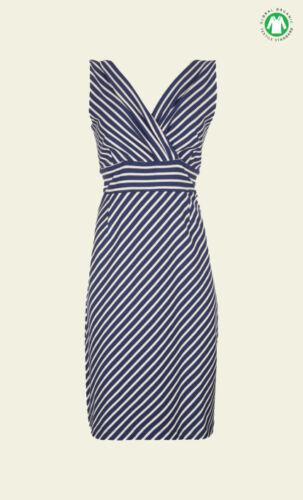 blau blue Striefen 01592 King Louie Kleid Double Cross Over Dress Breton Stripe