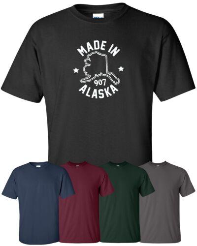 "/""Made in Alaska/"" T-Shirt S-4XL midnight sun yukon last frontier gold seawolves"